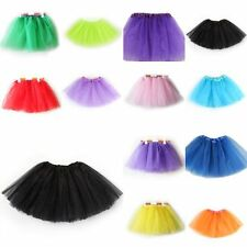 3 Layer Kids Girls Tulle Tutu Skirt Ballet Dance Wear Dress Clothes Multi-Colors