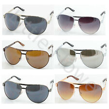 Men Women Gunmetal Fashion Designer Metal Frame Aviator Shades Sunglasses 3022