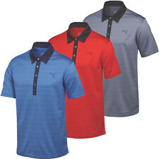 45% OFF RRP Puma Golf 2015 Mens Herringbone Stripe Polo Shirt Tech Performance