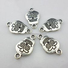 10/40/300pcs Tibetan Silver Skull Earring Connectors 11.5x20mm  (Lead-free)
