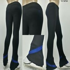 VC Ice Figure Skating Dress Practice Pants Trousers VCSP20 Blue Sparkle Skating