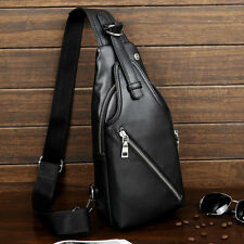 New Men Leather Casual Crossbody Shoulder Messenger Sling Fanny Pack Chest Bag