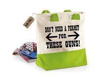 Dont Need A Permit-Womens Funny Sayings Novelty Westcove Canvas Tote Shopper Bag