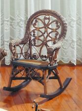 Yesteryear Wicker Victorian Child's Cotton Rocking Chair