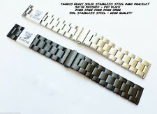 TAURUS HEAVY SOLID STAINLESS STEEL WATCH BAND BRACELET 20mm 22mm 24mm 26mm 28mm