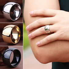 Likesome Men Women's Stainless Steel Band Ring Wedding Engagement Lover Jewelry