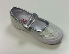 Lelli Kelly Silver Sprint Dolly Shoe with Cream Lace Shoes EUR 24 - 33 Lk9308
