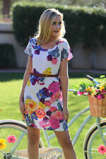 New with tags - Gorgeous Colorful Floral dress by Angie (small, medium, large)