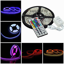 5M 10M SMD 5050 RGB LED Strip Light Flexible + Power Adapter +44 key  IR Remote