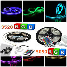 3528 5050 RGB LED SMD Light 5M 10M 15M Party Strip 12V LED Strip + 24 / 44Key IR