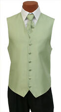 M-Long Mens After Six Aries Mint Green Tuxedo Fullback Vest & Tie Wedding Prom