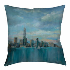 Manual Woodworkers & Weavers Manhattan Tower of Hope Indoor/Outdoor Throw Pillow