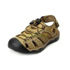 Men's Nubuck Leather Athletic Roma Casual Sport Sandals Shoes Fisherman Flats 00