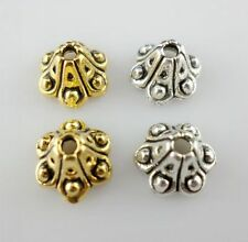 Wholesale 15/60/500pcs Plated Silver/gold Trumpet-shaped Bead Caps (Lead-free)
