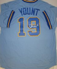 Brewers ROBIN YOUNT Signed Official Majestic Jersey AUTO - HOF '99, MVP '82 '89