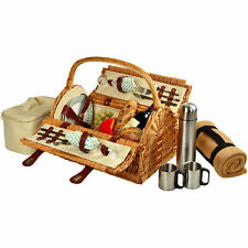 Picnic at Ascot Sussex Picnic Basket with Blanket and Coffee Flask for Two