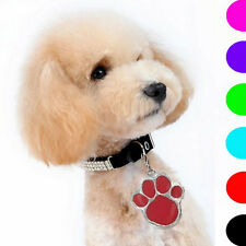Animal Dog Cat Pet Paw Print Stainless Steel Pendant Necklace Charm Tag SAJX