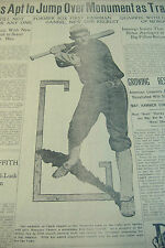 DISPLAY NEWSPAPER BASEBALL 1911 CHICK GANDIL ROOKIE CHICAGO BLACK SOX 1919 CUBS
