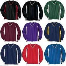 Sport-Tek Mens V-Neck Raglan Golf Baseball Pocket WindShirt Jumper  S-6XL JST62