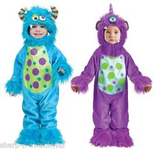 Baby Boys Girls Blue Purple Halloween Monster Fancy Dress Costume Outfit 6-24mth