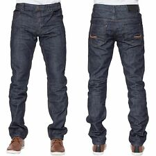 BWNT ETO Mens Smart Casual Tapered Fit Dark Wash Denim Jeans Pants All Sizes