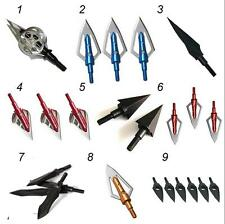 Archery 100grain/125grain/150grain Broadheads Crossbow Compound Bow Arrow Head