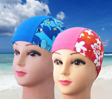 New Kids Lycra Swimming Cap Hat Swim Bathing Cap