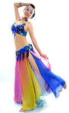 belly dance costume 2Pics bra+belt performance outfits 7colors