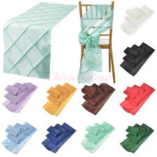 "1/5/10/20 PCS 12""x108"" Table Runner/6""x108"" Chair Sash for Wedding Decoration"
