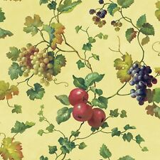 "Kitchen and Bath 33' x 20.5"" Fruit and Ivy Smooth Border Wallpaper"