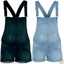 Ladies Women Denim Dungaree Strappy Braces Hot Pant Short Dress Playsuit Top