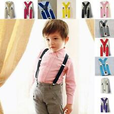 Children Kids Boys Girl Toddler Adjustable Clip-on Suspenders Elastic Braces