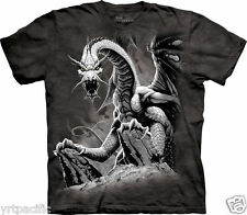 Black Dragon T-Shirt Tee Fantasy Moon Night