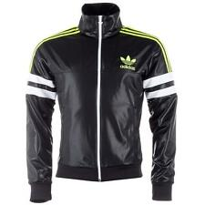 New adidas Originals Chile 62 Mens Full zip Track Top Jacket Sz S Black/Lime