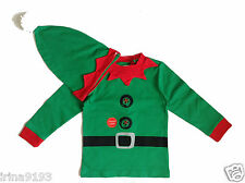 Next Boy`s or Girl`s Christmas 2 Pieces Set Top & Hat Green 6-9,12-18,1.5-2-3-4