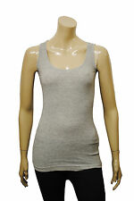 Womens Naf Naf Vest Tank Top Ribbed Grey Size 6 to 16 Ladies A12
