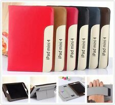 Ultra Thin Leather Smart Sleep/Wake Cover Hand Holder Stand Case For Apple iPad