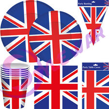 New BRITISH Union Jack Party Table Ware Decorations Great Britain Party Supplies