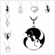Women Aniamal Pendant Charm Bead Chain Silver Plated Crystal Necklace Mother Day