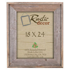 Rustic Decor Rustic Reclaimed Barn Wood Wall Picture Frame