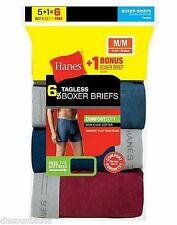 6-Pack Hanes Men's TAGLESS Boxer Brief Underwear ASSORTED COLORS S-XL Best