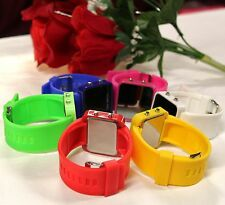 LOT of 10, 5, 3, 2 or 1 LED MIRROR / BLACK DIAL Watch UNISEX - FREE Std.Shipping