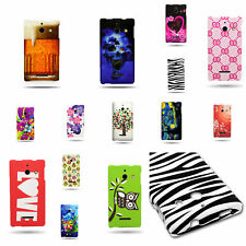 Custom Design Case For Huawei Ascend W1 Cover - Hard Rubber Snap On Plastic