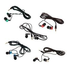 3.5 MM Jack Noise Isolating Fiber Stereo In-ear Earphone Earbuds Headphones Z2W5