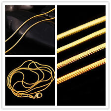 Fashion 16-30 inch HOT Snake Wholesale Chain Gold Plated Necklace 2016 Lots