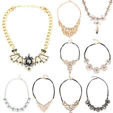 Jewelry Women Necklace Pendant Chain Choker Chunky bib Statement