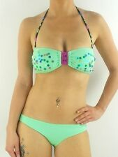 O'Neill Bikini Sequins Bandeau green Sequin B Cup Front fastening