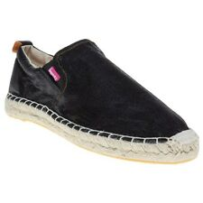 New Womens Superdry Black Ashley Espadrille Synthetic Shoes Espadrilles Slip On