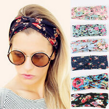 Twisted Knotted Hair Band Women Girl Yoga Elastic Turban Floral Headband Top