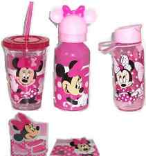 Disney Store Minnie Mouse Plate Tumbler Water Bottle Placemat Mealtime Magic New